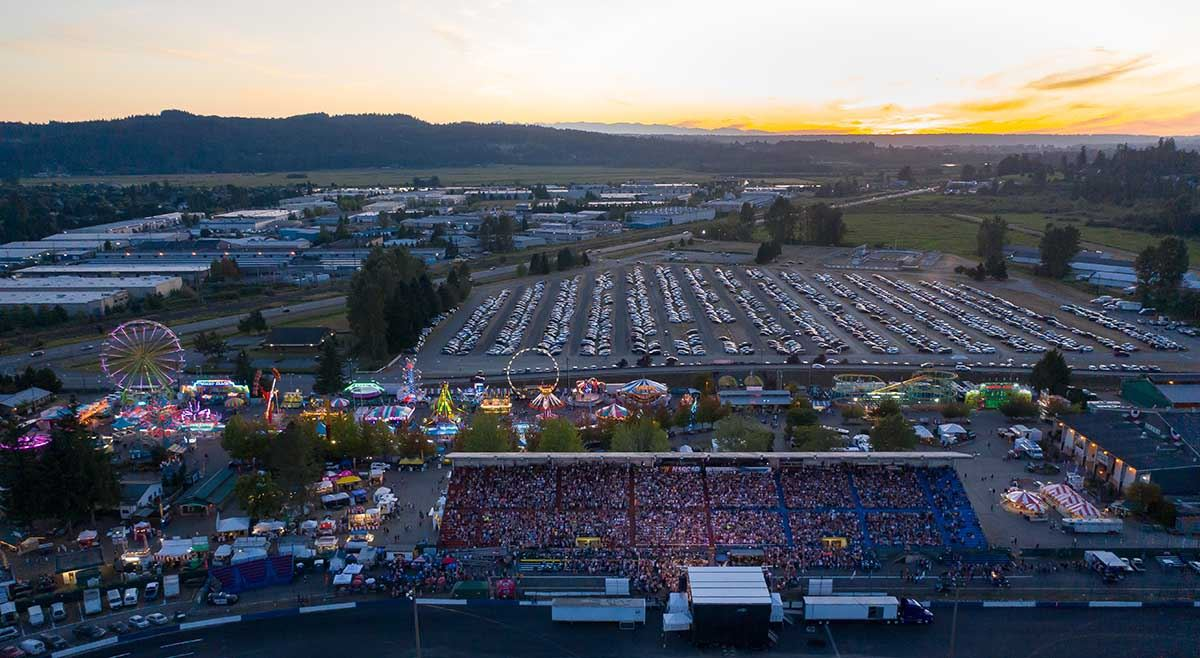 Drone Shot_Sold Out Concert with carnival_Sunset_Richard Patton